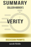 Summary  Colleen Hoover s Verity  Discussion Prompts