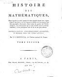 *Histoire des mathématiques. Tome premier [-quatrieme].