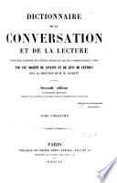 Dictionnaire de la conversation et de la lecture ...