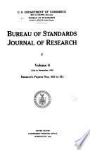 Bureau of Standards Journal of Research
