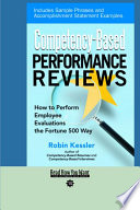 Competency based Performance Reviews Book