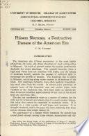 Phloem Necrosis, a Destructive Disease of the American Elm