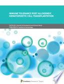 Immune Tolerance Post Allogeneic Hematopoietic Cell Transplantation Book
