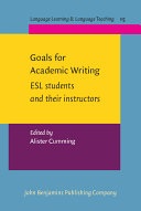 Goals for Academic Writing