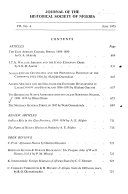Journal Of The Historical Society Of Nigeria