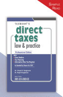 Taxmann's Direct Taxes Law & Practice – Taxmann's Flagship Commentary, Explaining the Law Lucidly along-with its Practical Application | A.Y. 2021-22 & 2022-23 Pdf/ePub eBook