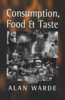Consumption  Food and Taste