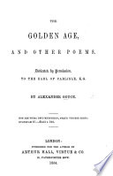 The Golden Age  and Other Poems Book