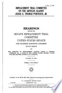 Impeachment Trial Committee on the Articles Against Judge G  Thomas Porteous  Jr Book PDF