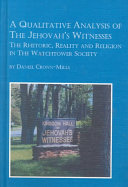 A Qualitative Analysis Of The Jehovah S Witnesses