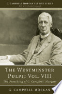 The Westminster Pulpit vol  VIII Book