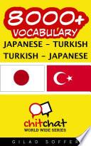 8000  Japanese   Turkish Turkish   Japanese Vocabulary