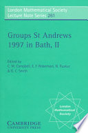 Groups St  Andrews 1997 in Bath Book