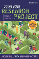 Doing Your Research Project  A Guide For First Time Researchers