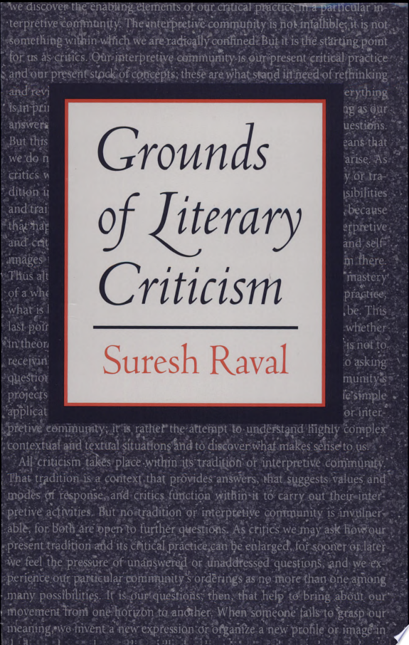 Grounds of Literary Criticism
