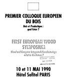 Premier Colloque européen du bois
