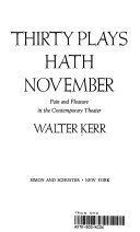Thirty Plays Hath November