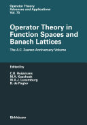 Operator Theory in Function Spaces and Banach Lattices [Pdf/ePub] eBook