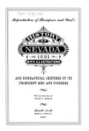 Reproduction of Thompson and West s History of Nevada  1881