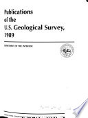 Publications of the Geological Survey Book