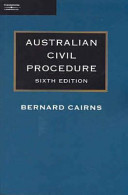 Cover of Australian Civil Procedure
