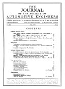 The Journal Of The Society Of Automotive Engineers Book PDF
