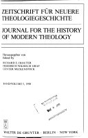 Journal for the History of Modern Theology