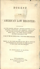 Digest of the American Law Register