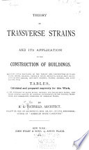 Theory of Transverse Strains and Its Application in the Construction of Buildings