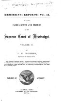 Pdf Cases Argued and Decided in the Supreme Court of Mississippi ...