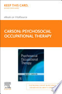 """Psychosocial Occupational Therapy E-Book"" by Nancy Carson"
