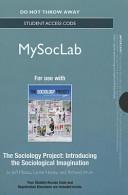 Sociology Mysoclab Standalone Access Card