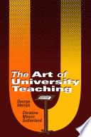 The Art of University Teaching