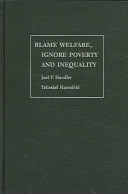 Blame Welfare, Ignore Poverty and Inequality ebook