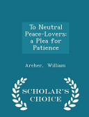To Neutral Peace-Lovers