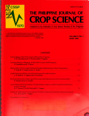 The Philippine Journal of Crop Science