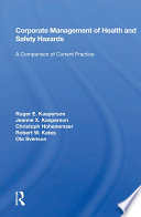 Corporate Management Of Health And Safety Hazards