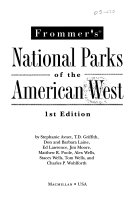 Pdf Frommer's National Parks of the American West
