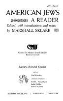 American Jews  a Reader