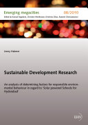 Sustainable Development Research