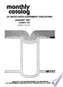 Monthly Catalogue, United States Public Documents