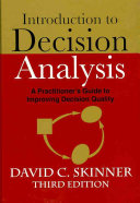 Introduction to Decision Analysis Book