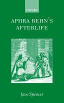 Aphra Behn S Afterlife