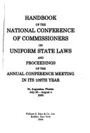 Handbook of the National Conference of Commissioners on Uniform State Laws and Proceedings of the Annual Conference Meeting