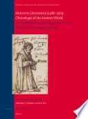 Henricus Glareanus S 1488 1563 Chronologia Of The Ancient World