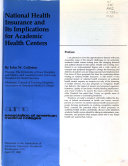 National Health Insurance and Its Implications for Academic Health Centers