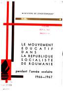 Development of education in the Socialist Republic of Romania
