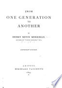 From One Generation To Another Pdf [Pdf/ePub] eBook