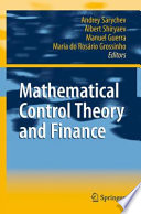 Mathematical Control Theory And Finance Book PDF