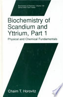Biochemistry of Scandium and Yttrium  Part 2  Biochemistry and Applications